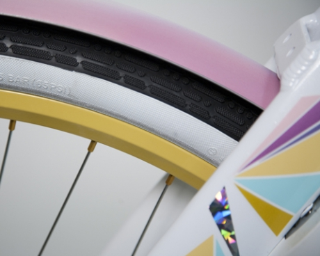Curana fenders on the custom made bike for Katy Perry